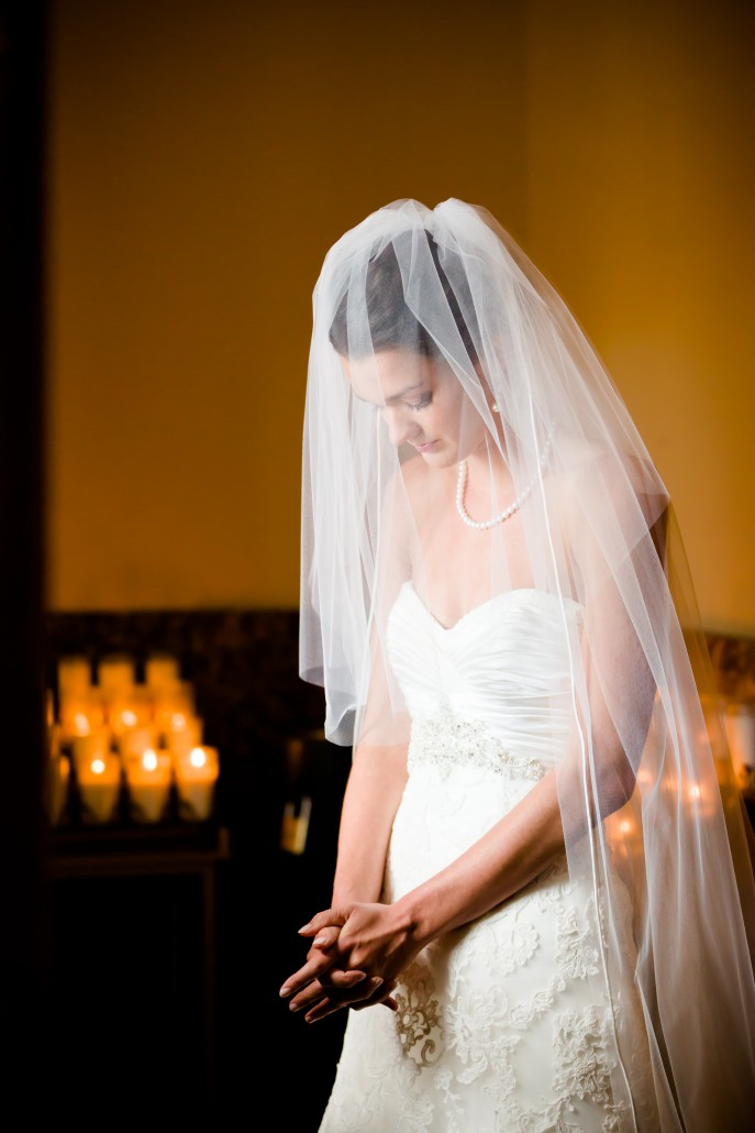 St. Louis Wedding Photography - The Bride Prays Before Her Wedding, College Church